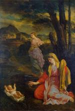 Eustache Le Sueur - Bilder Gemälde - Landscape with Moses Saved from the Nile