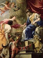 Eustache Le Sueur - Bilder Gemälde - Prudence brings peace and plenty