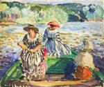 Henri Lebasque - Bilder Gemälde - A fishing expedition