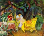 Henri Lebasque - Bilder Gemälde - Afternoon in the Garden
