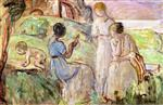 Henri Lebasque - Bilder Gemälde - Among Ancient Ruins