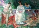 Henri Lebasque - Bilder Gemälde - An Offering in the Garden