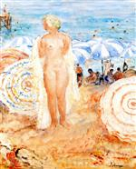 Henri Lebasque - Bilder Gemälde - Bather on the Beach at Cannes