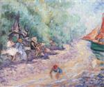 Henri Lebasque - Bilder Gemälde - Bathers by the River