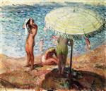 Henri Lebasque - Bilder Gemälde - Bathers on the Beach