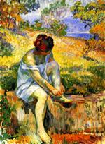 Henri Lebasque - Bilder Gemälde - Before Bathing