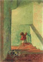Bild:Child on the Stairs
