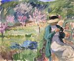 Henri Lebasque  - Bilder Gemälde - Girl in an Orchard