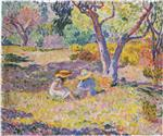 Henri Lebasque  - Bilder Gemälde - Girls among olive trees