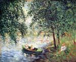 Henri Lebasque  - Bilder Gemälde - Girls by the River