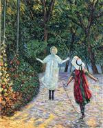 Henri Lebasque  - Bilder Gemälde - Girls Jumping Rope
