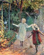 Henri Lebasque  - Bilder Gemälde - Girls Playing in the Garden