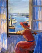 Henri Lebasque  - Bilder Gemälde - In Front of the Window, Ile d'Yeu