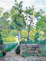 Henri Lebasque  - Bilder Gemälde - In the Garden at Champigné