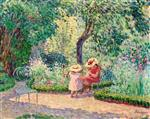 Henri Lebasque  - Bilder Gemälde - In the Garden at Montévrain