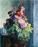 Henri Lebasque  - Bilder Gemälde - Interior with a Bouquet of Flowers