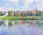 Henri Lebasque  - Bilder Gemälde - Lagny, Banks of the Marne