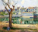 Henri Lebasque  - Bilder Gemälde - Lagny, View of the Quai de Pamponne