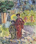 Henri Lebasque  - Bilder Gemälde - Marthe and Nono in Japanese robes