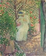 Henri Lebasque  - Bilder Gemälde - Marthe Lebasque in the Garden