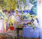 Henri Lebasque  - Bilder Gemälde - Meal on the Terrace