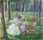 Henri Lebasque  - Bilder Gemälde - Mother and Child in the Park