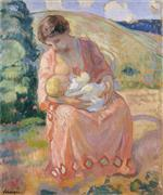 Henri Lebasque  - Bilder Gemälde - Mother