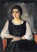 Henri Lebasque  - Bilder Gemälde - Nono in a Green Necklace