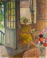 Henri Lebasque  - Bilder Gemälde - Nono in a Yellow Dress