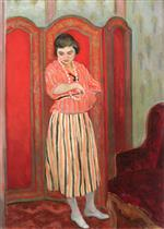 Henri Lebasque  - Bilder Gemälde - Nono in Striped Clothing