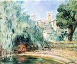 Henri Lebasque  - Bilder Gemälde - Nude at the Fountain