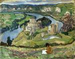 Henri Lebasque  - Bilder Gemälde - Ruins of Chateau Galliard at Andelys