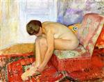 Henri Lebasque  - Bilder Gemälde - Seated Female Nude