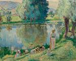 Henri Lebasque  - Bilder Gemälde - Spring Morning at Andelys