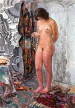 Henri Lebasque  - Bilder Gemälde - Standing Nude with Necklace