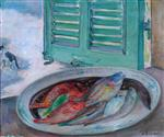Henri Lebasque  - Bilder Gemälde - Still Life with Fish