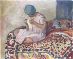 Henri Lebasque  - Bilder Gemälde - The Little Seamstress