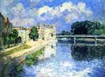 Henri Lebasque  - Bilder Gemälde - The Marne at Lagny