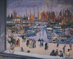 Henri Lebasque  - Bilder Gemälde - The Port at Saint Tropez