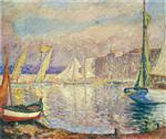 Henri Lebasque  - Bilder Gemälde - The Port at St Tropez