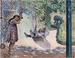 Henri Lebasque  - Bilder Gemälde - The Swing