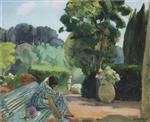 Henri Lebasque  - Bilder Gemälde - The Terrace in Pradet