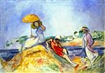 Henri Lebasque  - Bilder Gemälde - Three Woman by the Sea