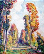 Henri Lebasque  - Bilder Gemälde - Tree Lined Alley