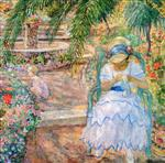 Henri Lebasque  - Bilder Gemälde - Under the Palm Trees