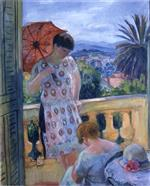 Henri Lebasque  - Bilder Gemälde - View of Esterel from the Balcony