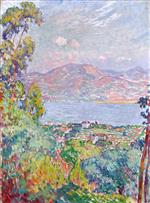 Henri Lebasque  - Bilder Gemälde - View of the Golf at Saint Tropez
