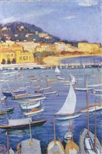 Henri Lebasque  - Bilder Gemälde - Villefranche by the sea