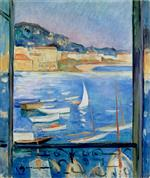 Henri Lebasque  - Bilder Gemälde - Villefranche-sur-Mer, Window overlooking the port