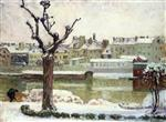 Henri Lebasque  - Bilder Gemälde - Winter in Lagny